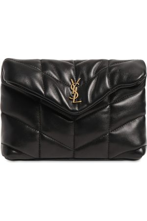 Saint Laurent Women Clutches - Loulou Small Puffy Leather Pouch