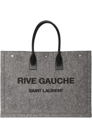 Saint Laurent Women Tote Bags - Large Rive Gauche Leather Tote