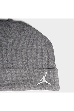 Nike Jordan Infant Long-Sleeve Shirt, Footed Pants and Beanie Hat Set (3-Pack) in /Grey/Grey Size 0-3M Cotton/Jersey