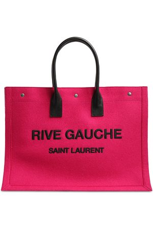 Saint Laurent Rive Gauche Printed Wool Tote