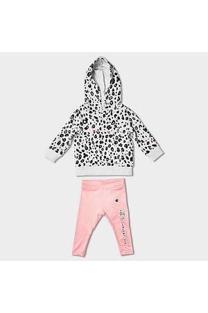 Champion Hoodies - Girls' Infant Animal Print Fleece Hoodie and Leggings Set in / Size 12 Month Cotton/Fleece