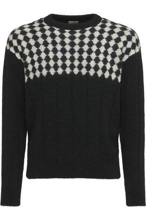 Saint Laurent Men Sweaters - Wool Blend Knit Sweater