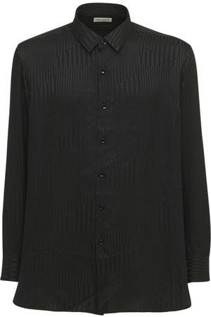 Saint Laurent Striped Oversize Silk Shirt