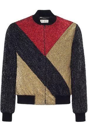 Saint Laurent Teddy Color Block Jacket