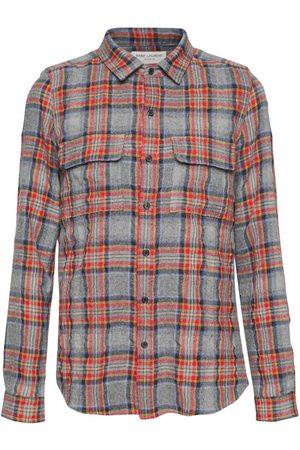 Saint Laurent Check Wool & Cotton Shirt