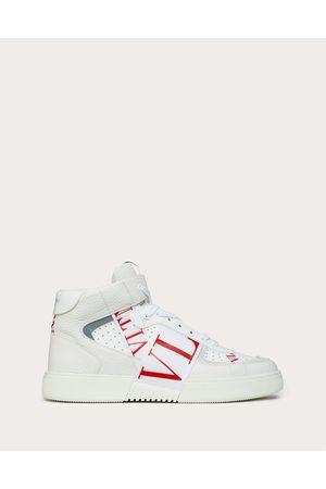 VALENTINO GARAVANI Mid-top Calfskin Vl7n Sneaker With Bands Man /pure 100% Pelle Di Vitello - Bos Taurus 39