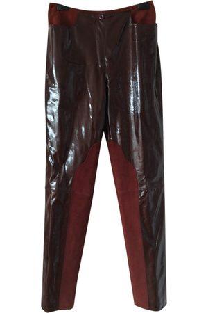 Emanuel Ungaro Leather straight pants