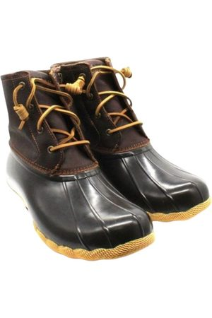 Sperry Exotic leathers lace up boots