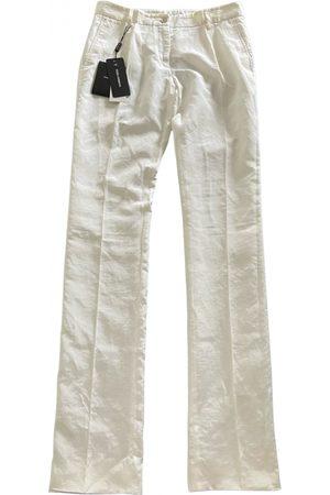 Dolce & Gabbana Linen straight pants