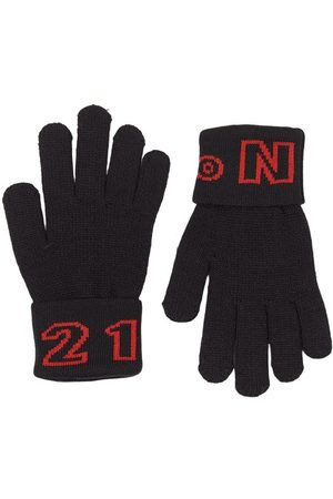 No. 21 Kids - Logo Gloves - 8-10 years - - Wool gloves and mittens