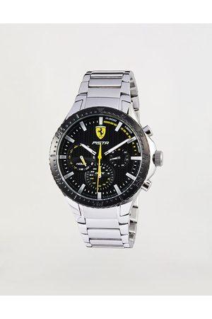 FERRARI STORE Men Bracelets - Multifunction Pista watch with black dial and steel bracelet
