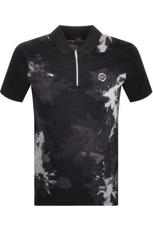 Armani Half Zip Polo T Shirt