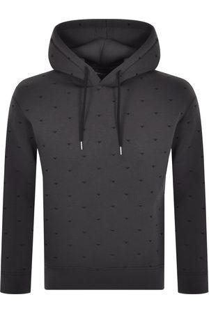 Armani Men Hoodies - Emporio Logo Hoodie Grey