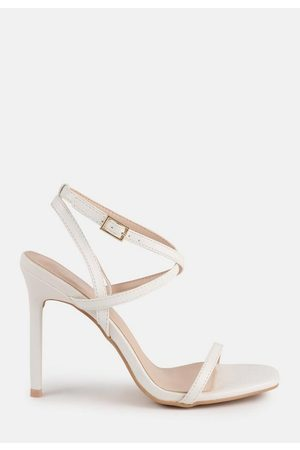 Missguided Cross Over Strappy Heeled Sandals