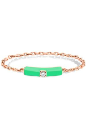 DJULA Women Rings - Green enamel chain ring