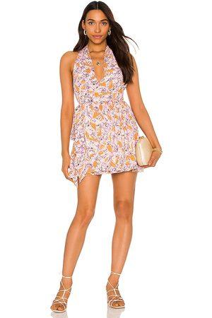 Tularosa Crew Wrap Dress in Lavender.