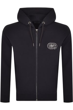 Armani Emporio Full Zip Hoodie Grey