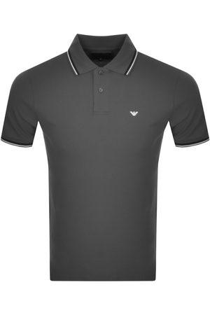 Armani Emporio Short Sleeved Polo T Shirt Grey