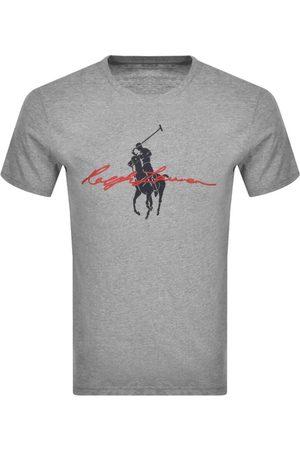 Ralph Lauren Men Polo Shirts - Polo Logo T Shirt Grey
