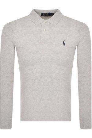 Ralph Lauren Long Sleeve Polo T Shirt Grey