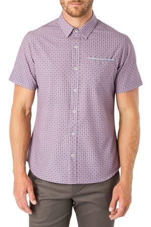 7 Diamonds Men's Another Dimension Slim Fit Short Sleeve Button-Up Shirt