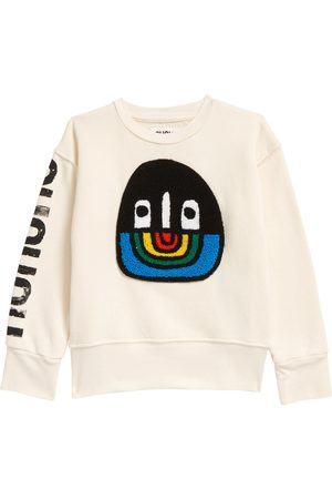 Nununu Toddler Kids' Fuzzy Rainbow Smile Sweatshirt