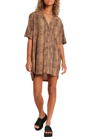Volcom Women's In The Tropics Print Tunic Shirt