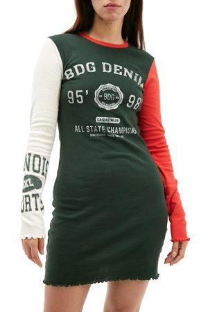 BDG Urban Outfitters Women's Cog Long Sleeve Dress