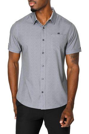 7 Diamonds Men's Painted Memory Short Sleeve Performance Button-Up Shirt