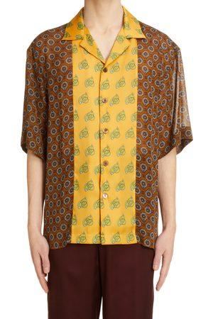 DRIES VAN NOTEN Men's Cassi Print Button-Up Shirt