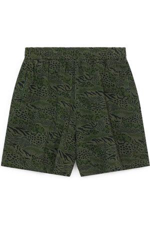 Kenzo Men's Animal Print Cotton Shorts