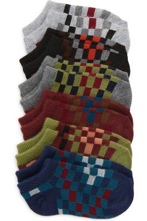 Nordstrom Boys Socks - Toddler Boy's Kids' 6-Pack Checkered Ankle Socks
