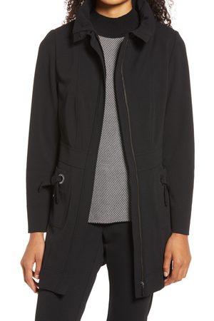 Ming Wang Women's Women's Longline Crepe Jacket