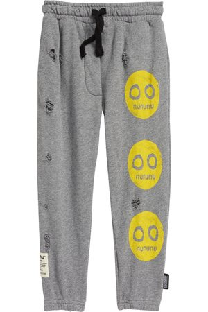 Nununu Toddler Kids' Smile Trio Distressed Cotton Sweatpants