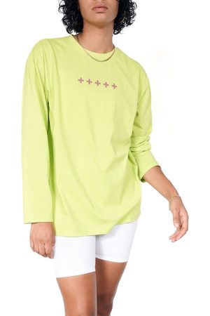 BP. + Wildfang Plus Size Women's Organic Cotton Long Sleeve Graphic Tee
