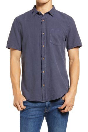 Marine Men's Selvage Pocket Short Sleeve Button-Up Shirt