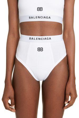 Balenciaga Women's Slip Logo Briefs