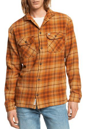 Quiksilver Men's Quicksilver Lyneham Plaid Cotton Button-Up Shirt Jacket