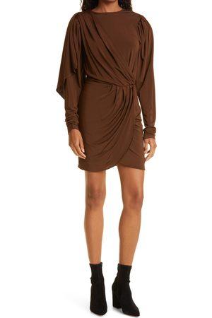 RONNY KOBO Women's Katniss Long Sleeve Slinky Minidress