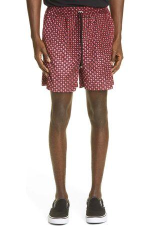 AMIRI Men's Diamond Pattern Velour Drawstring Shorts