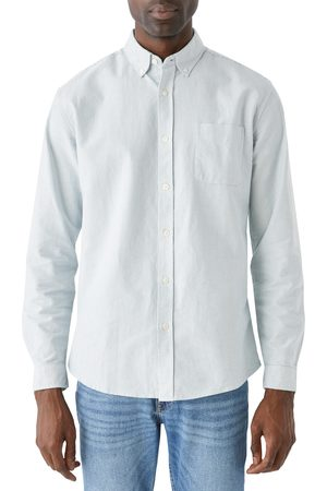 FRANK AND OAK Men's Stripe Jasper Organic Cotton Blend Button-Down Shirt