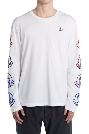 Moncler Men's Ombre Logo Long Sleeve Graphic Tee