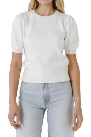 ENGLISH FACTORY Women Sweaters - Women's Puff Sleeve Sweater