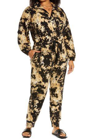 Open Edit Women Long sleeves - Plus Size Women's Boiler Long Sleeve Drawstring Jumpsuit