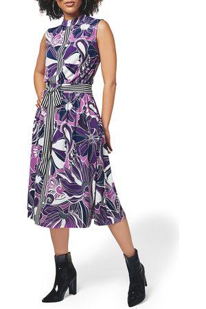 Leota Women's Mindy Print Midi Dress