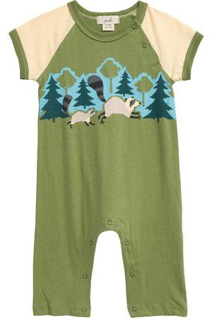Peek Essentials Infant Boy's X The Nature Conservancy Raccoon Cotton Graphic Romper