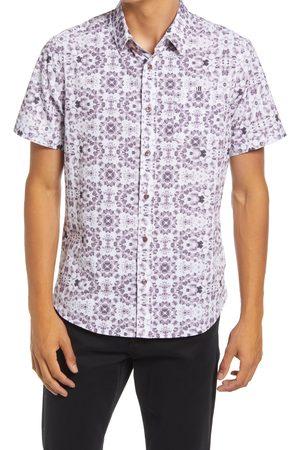 7 Diamonds Men's Short Sleeve Button-Up Performance Shirt