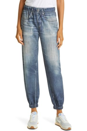RAG&BONE Women Tracksuits - Women's Miramar Faux Jeans Joggers