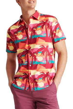 BONOBOS Men Short sleeves - Men's Riviera Slim Fit Short Sleeve Button-Up Shirt