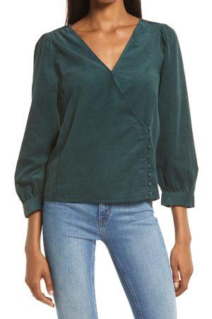 Madewell Women Wrap tops - Women's Kinston Side Button Corduroy Wrap Top